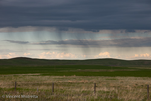 Sunset at Montana - Alberta Border with Approaching Storm