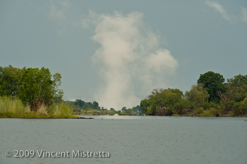 Victoria Falls Mist from Zambezi River