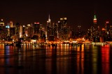 Manhattan Skyline at Night print