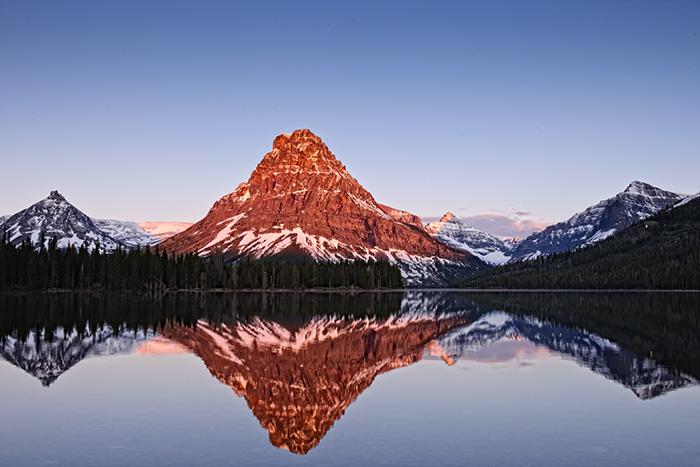 two medicine, glacier national park, montana, sunrise, photo