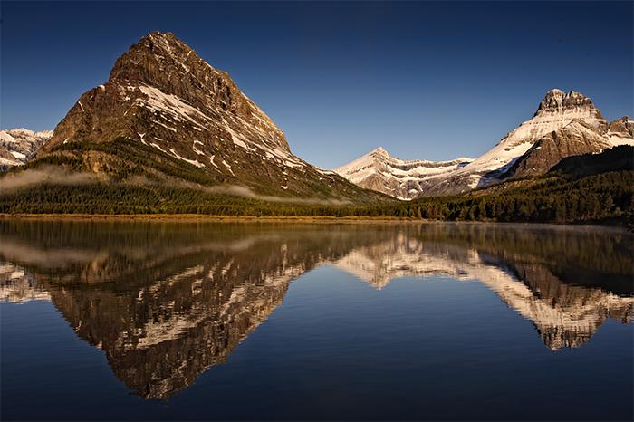 swiftwater lake, sunrise, glacier national park, montana, image, photograph, vincent mistretta, photo