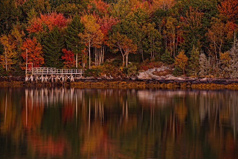 Fort William Henry,Harbor, Fall Foliage, photograph, image, vincent mistretta, photo