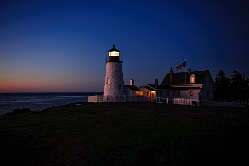 Pemaquid Point Lighthouse, Sunrise, bristol, maine, photo