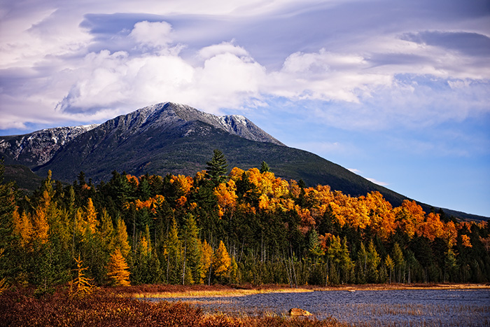 tracy pond, fall foliage, maine, millinocket, baxter state park, photo