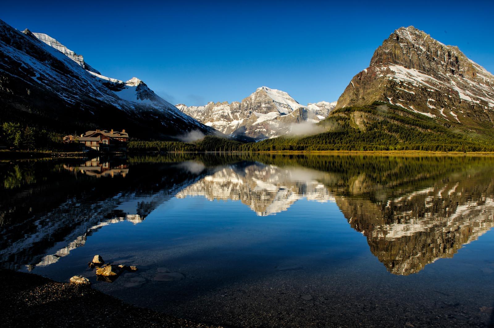 swift current lake, glacier national park, montana, sunrise, vincent mistretta, images, photography, landscape, nature, many glacier hotel, photo